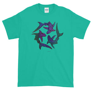 SHARK CIRCLE Short-Sleeve T-Shirt - COOOL CATS