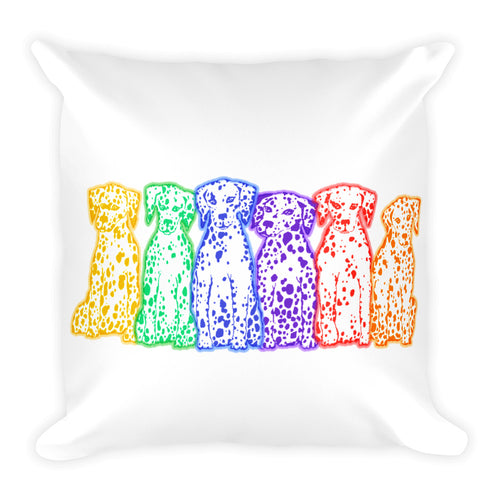 RAINBOW DALS (2 SIDED) Square Pillow - COOOL CATS