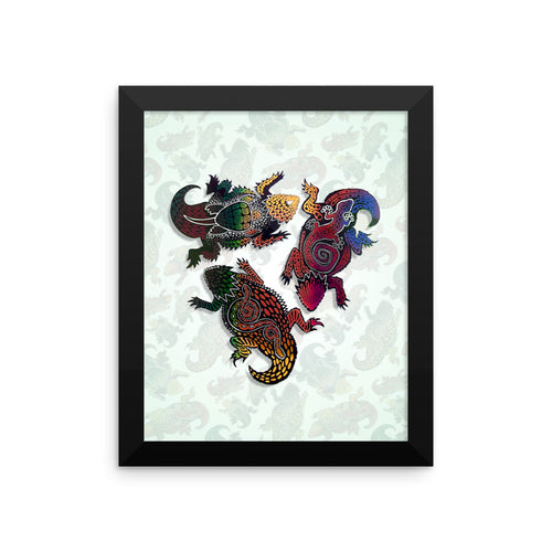 HORNY TOADS Framed poster - COOOL CATS