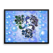 MERMAID CIRCLE Framed poster - COOOL CATS
