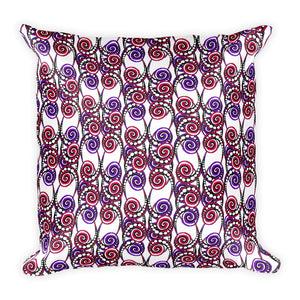 SWIRLY Square Pillow - COOOL CATS