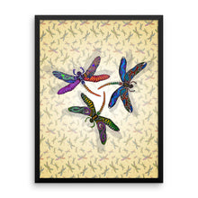 DRAGONFLY CIRCLE Framed poster - COOOL CATS