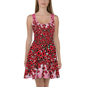 Bed of Red Roses 3 designer Skater Dress by John A. Conroy