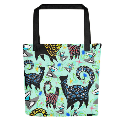 AQUA SNOBBY COCKTAILS Tote bag - COOOL CATS