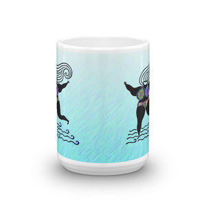 BLUE GODDESS OF GOOD ATTITUDE Mug - COOOL CATS