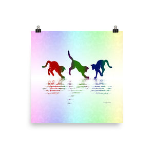 RAINBOW REFLECTIONS Poster - COOOL CATS