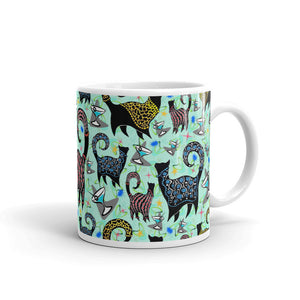 AQUA SNOBBY COCKTAILS Mug - COOOL CATS