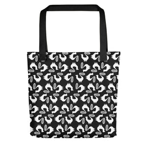 BLACK SNOOTY PATTERN Tote bag - COOOL CATS