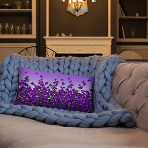 Purple Bed of Roses designer Basic Pillow by John A. Conroy