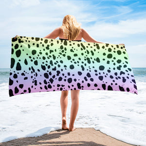 RAINBOW DALMATIANS SPOTS Towel - COOOL CATS