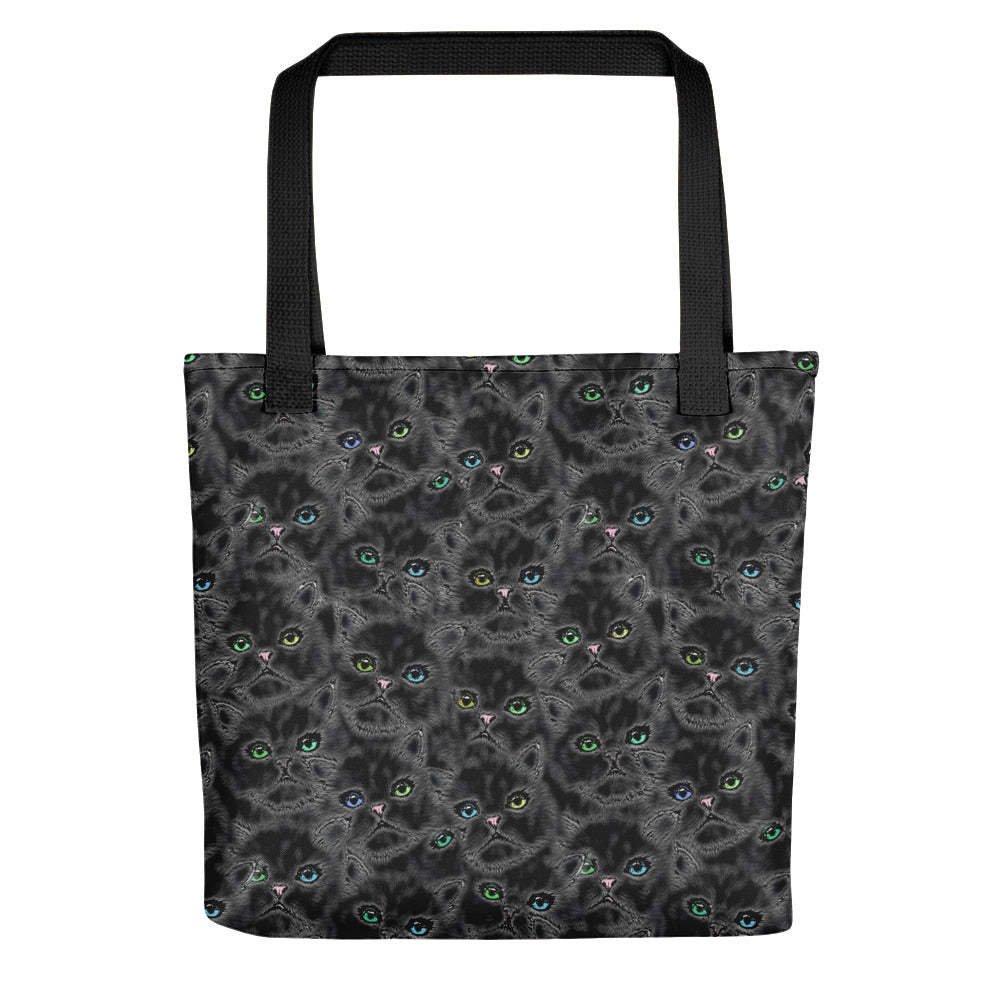 LUCKY BLACK KITTYS Tote bag - COOOL CATS