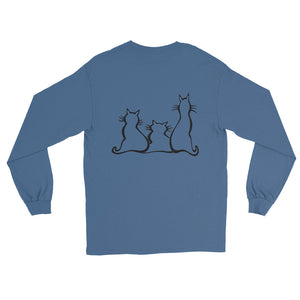 ARISTOCATS Long Sleeve T-Shirt (2 sided front & back) - COOOL CATS