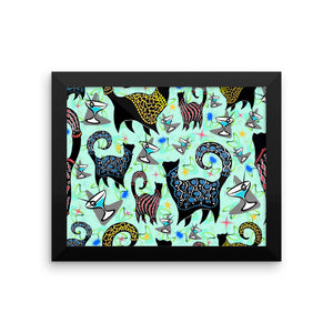 AQUA SNOBBY COCKTAILS Framed poster - COOOL CATS