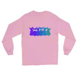 BLUE BOSTONS (2 SIDED) Long Sleeve T-Shirt - COOOL CATS