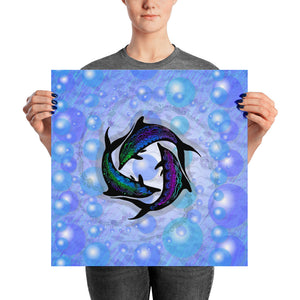 DOLPHIN CIRCLE Poster - COOOL CATS