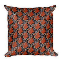 SWIRLY CATS PATTERN Square Pillow - COOOL CATS