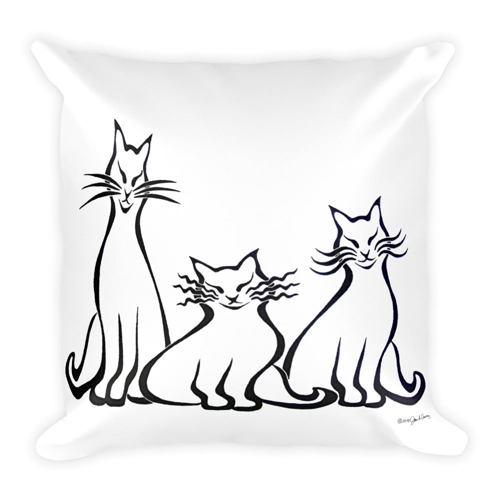 ARISTOCATS Square Pillow (2 sided front & back) - COOOL CATS