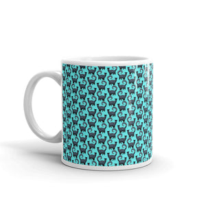 BLUE SNOBBY SCATTER Mug - COOOL CATS