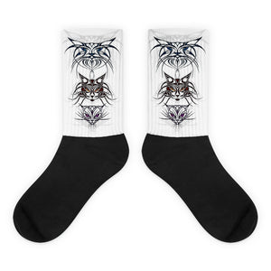 TRIBAL CATS Socks - COOOL CATS