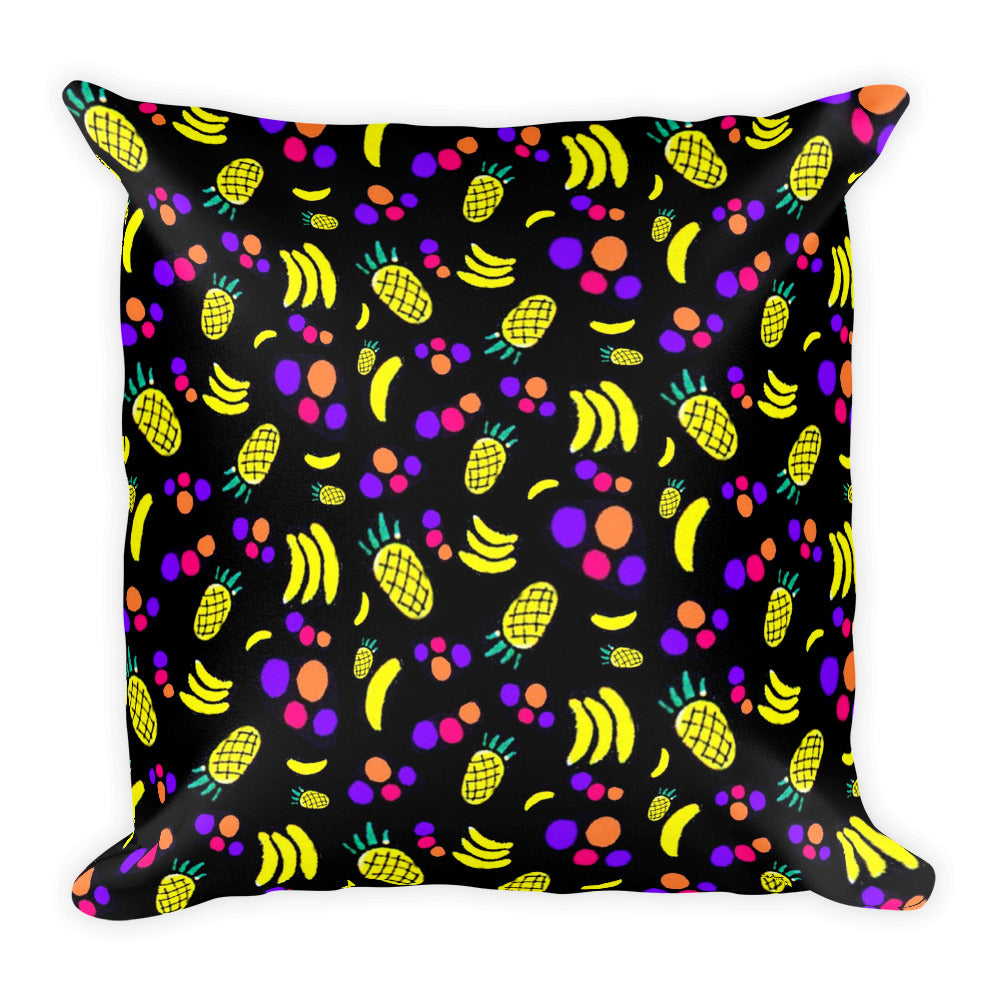 FRUIT COCKTAIL Square Pillow - COOOL CATS