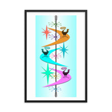 Retro Snooty Cats by John A. Conroy Framed poster