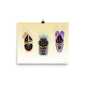 TRIBAL MASKS Poster - COOOL CATS
