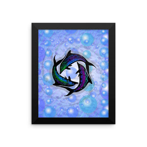DOLPHIN CIRCLE Framed poster - COOOL CATS