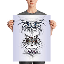TRIBAL CATS SPIRITS Poster - COOOL CATS