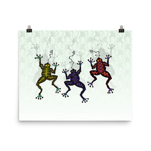 DANCING FROGS Poster - COOOL CATS