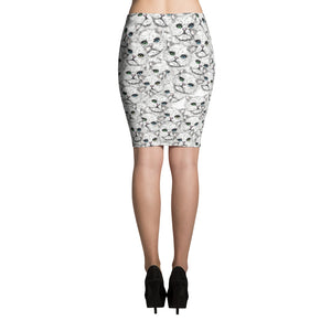 ANGORA KITTY FACES Pencil Skirt - COOOL CATS