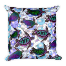 SEA OF TURTLES Square Pillow - COOOL CATS