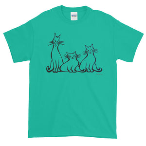 ARISTOCATS Short-Sleeve T-Shirt (2 sided front & back) - COOOL CATS