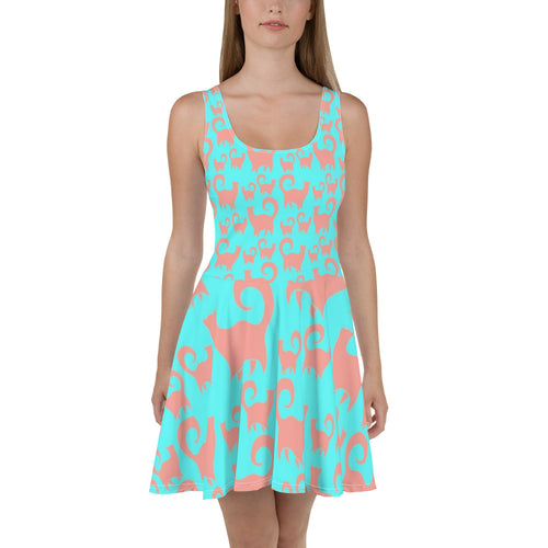 Pink Kitties Skater Dress