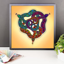 SNAKES CIRCLE Framed poster - COOOL CATS