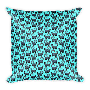 BLUE CATS PATTERN Square Pillow - COOOL CATS