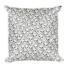 ANGORA KITTEN FACES Square Pillow - COOOL CATS