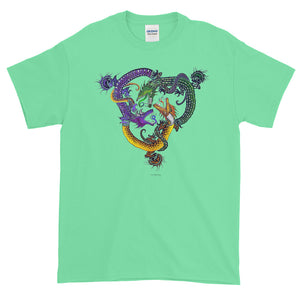 DRAGON CIRCLE Short-Sleeve T-Shirt - COOOL CATS