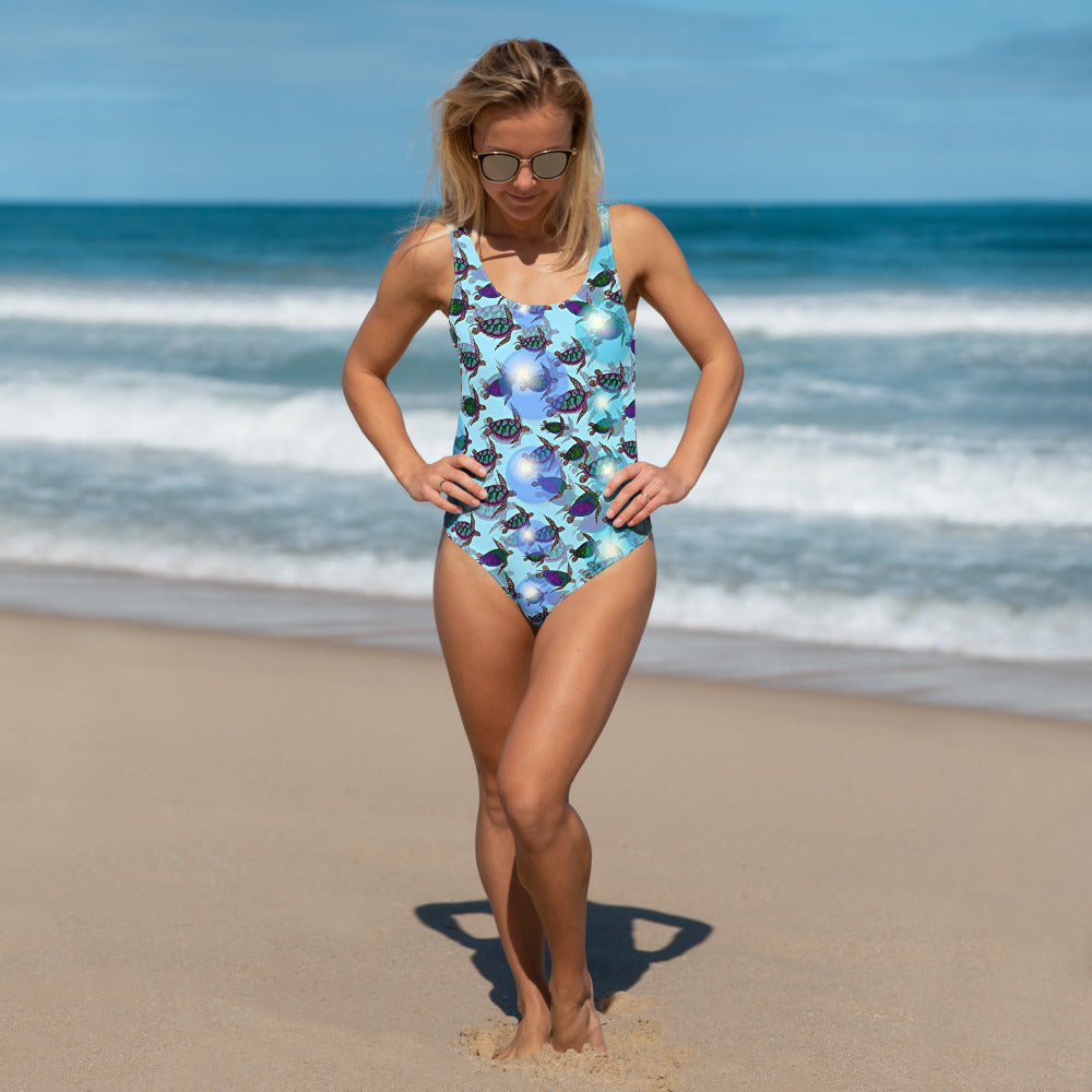 Sea of Turtles One-Piece Swimsuit