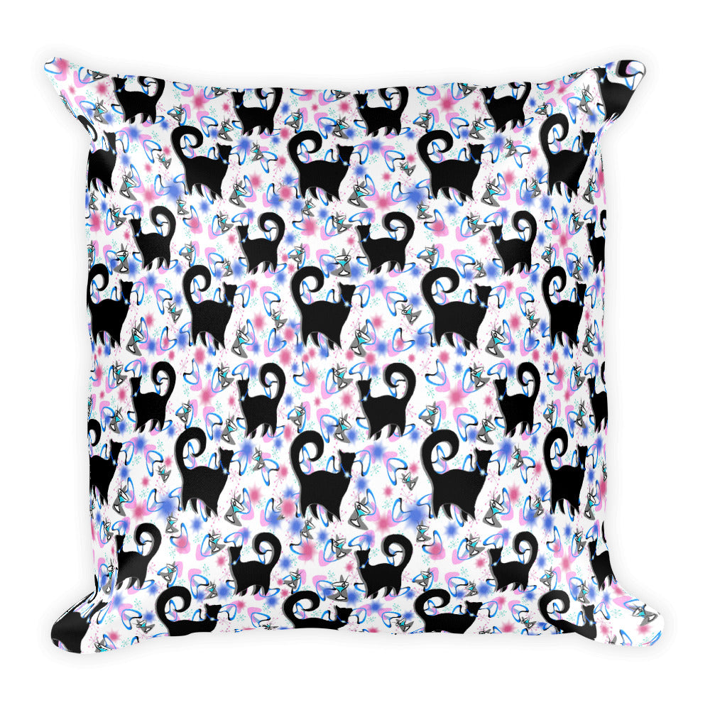SNOBBY COCKTAILS Square Pillow - COOOL CATS