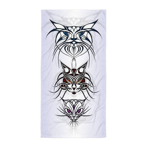 TRIBAL CATS SPIRITS Towel - COOOL CATS