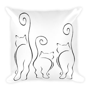 CATS SILHOUETTES 2 Square Pillow (2 sided front & back) - COOOL CATS