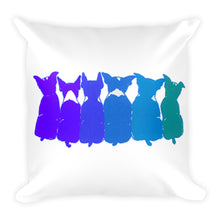 BLUE BOSTONS (FRONT & BACK) Square Pillow - COOOL CATS