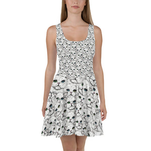 ANGORA Kitty Faces Skater Dress