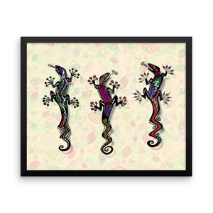 PARTY GECKOS Framed poster - COOOL CATS