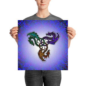 GOTHIC DRAGON Poster - COOOL CATS