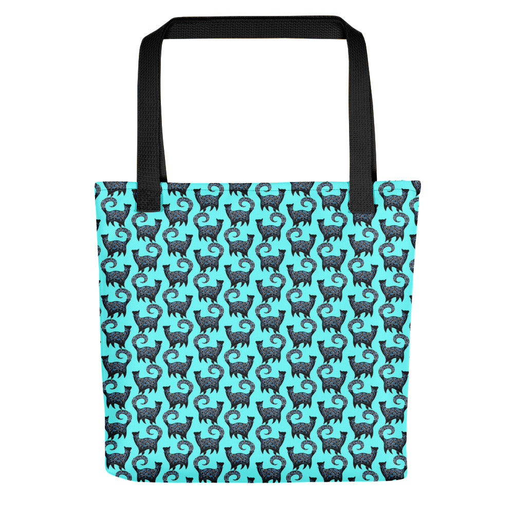 BLUE SNOBBY PATTERN Tote bag - COOOL CATS