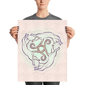 CAT KNOT Poster - COOOL CATS