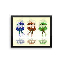 CAN CAN GIRLS Framed poster - COOOL CATS