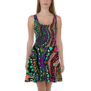 Rainbow Mosh Pit Skater Dress