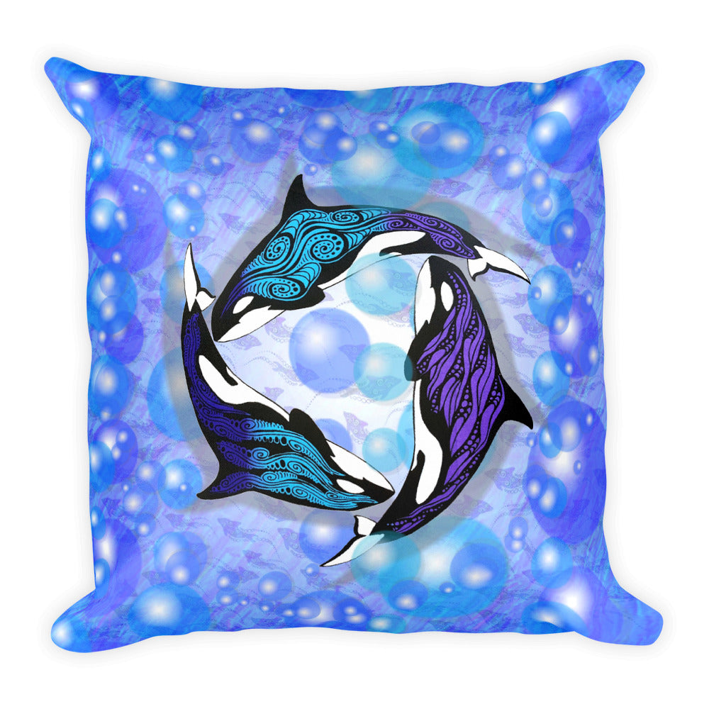 ORCAS Square Pillow - COOOL CATS